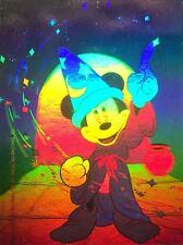 Disney Mickey Mouse Hologram 2 Card Set 1991 Impel Insert Fantasia + World Tour