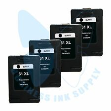 4 Black New 61XL 61 Ink Cartridges for HP DeskJet 1510 2540 2545 1512 2510 3512