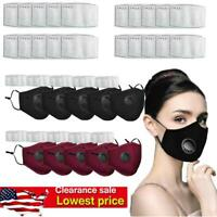 5pcs Washable Facemask Face Mouth Mask Masks With Filters Filter Cover Reusable