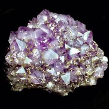 6720gMuseum Quality-Natural Big Amethyst & Cristobalite Crystal Cluster Specimen