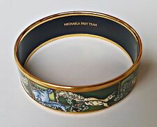 AUTHENTIC MICHAELA FREY WILLE SQUIRRELS ENAMEL GOLD PLATED BRACELET BANGLE