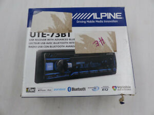 ALPINE UTE-73BT USB RECEIVER WITH ADVANCED BLUETOOTH NEW