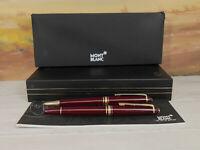 Vintage MONTBLANC Meisterstuck Burgundy Red 165R Pencil & 144R Fountain Pen Set