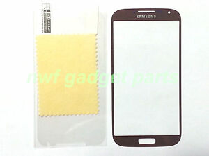 New Front Outer Glass Replacement  for Samsung Galaxy S4 i9500+SP  (Brown) -US
