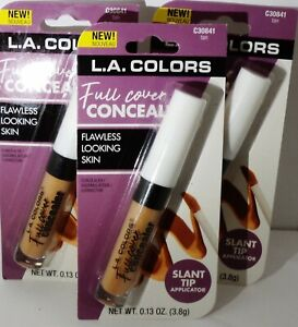 3 L.A.Colors full Cover Concealer Flawless Looking Skin TAN #C30841 NIP Sealed