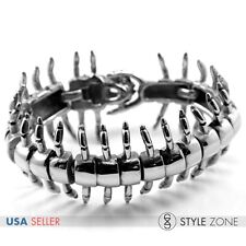 Men's Stainless Steel Gothic Vintage The Centipede Full Body Bracelet Cool B70