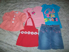 5pc Lot of clothes Girls size 7  Skirt  & Tops    Back To School