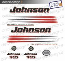 Adesivi motore marino fuoribordo Johnson 115 bonbardier gommone barca