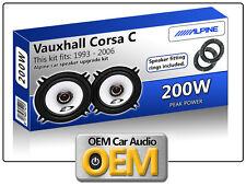 Vauxhall CORSA Posteriore Porta Altoparlante KIT ALPINE ALTOPARLANTI AUTO CON ADATTATORI ALTOPARLANTI