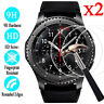 2x 9H Tempered Glass Screen Protector For Samsung Gear S2 / S3 Classic Frontier