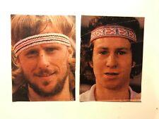 Vintage 1980's Swedish  Fick Journalen cards/images, Björn Borg & John McEnroe