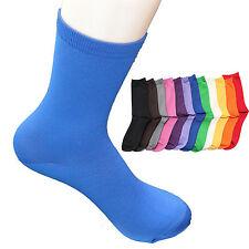 Girl's Women's Fashion Socks Cotton Solid Color 7-9 Aqua, Casual, Sephar