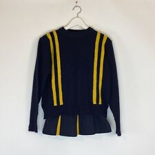 Vintage Dehen Knitting Co. Navy and Yellow Cheer Uniform Size Small Xs