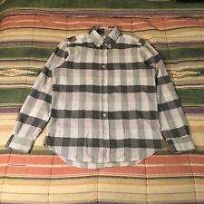 Steven Alan Made Usa Check Plaid Button Shirt Medium