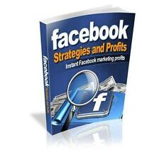 Facebook Strategies And Profits Ebook On CD $5.95 + Resale Rights Free Shipping