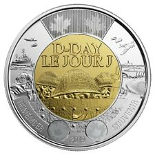 2019 Canada $2 D-Day UNC Non Coloured Toonie Coin From Special Wrap Roll