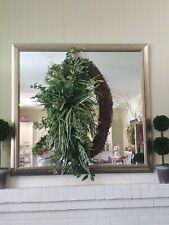 """Year Round Wreath Front Door Silk Flower Greens Floral Wreaths Handmade 30"""""""
