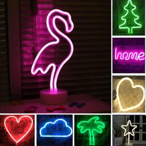 LED Neon Light Sign Wall Light Visual Art Bar Lamp Home Dorm Kid Room Decoration