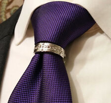 Mens neck tie ring rhodium tone Presidents 2 Tie Bling clip tack tie NEW 2015
