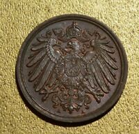 Germany Empire 1906 Pfennig BU Brown Uncirculated Free Ship