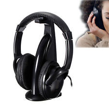 5in1 Wireless Headphones FM Hi-Fi Earphone for TV Stereo MP3 MP4 PC CD DVD PC