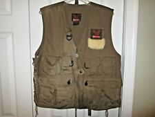 Garcia Fly Fishing Vest One Size Lamb Skin Patch Nice Condition
