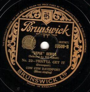 RARE COW COW DAVENPORT BLUES 78 THAT'LL GET IT/ DON'T YOU LOUD MOUTH ME 03509 E-