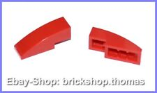 LEGO 2 X Dachstein arc rouge (3 x 1) - 50950-slope curved red-Neuf/New