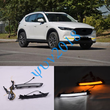 For Mazda CX-5 2.5L 2017 18 19 LED DRL Daytime Running Lights Fog/Driving Lamp s