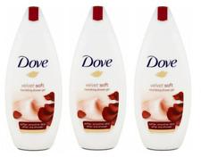Dove Body Wash Velvet Soft Shower Gel 15.9 Oz PACK OF 3