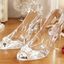 Princess Crystal Shoes Glass High Heel Valentine Slipper Gift Party Decoration