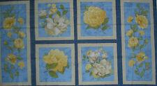 Wilmington's Sunshine Bouquet Quilt Fabric -Blues/Yellows  Panel