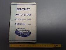 Antico libro del code de la route Berthet Auto scuola