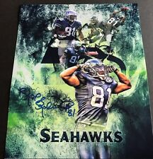 Koren Robinson Seattle Seahawks Signed 8x10 Custom Photo