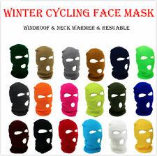 3 Hole Full Face Mask Ski Winter Cap Balaclava Beanie Tactical Hat Bandana