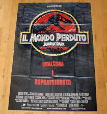 MONDO PERDUTO JURASSIC PARK poster manifesto Spielberg Goldblum Dinosauri Sci-Fi