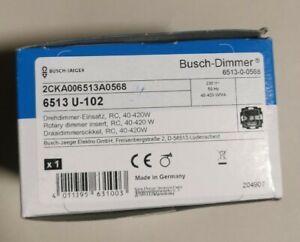BUSCH JAEGER - BUSCH DIMMER 6513 U-102 - Leistung: 40-420W für Halogenl. Neu/Ovp