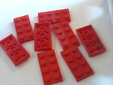 Lego 8 plates rouges set 4403 6688 4208  / 8 red plates