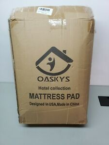 🛌Brand New Oaskys Hotel Collection Queen Matress Pad Down Alternative Free Shp
