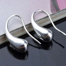 New Style Fashion Women Teardrop Hook Silver Plated Jewelry Lady Hoop Earrings