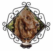 Irish Red Setter Dog /'Love You Mum/' Single Leather Photo Coaster An AD-RS1lymSC