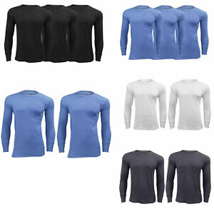 Mens Thermal Underwear Baselayer Long Sleeves Winter Workout Shirt Top Pack Of 2