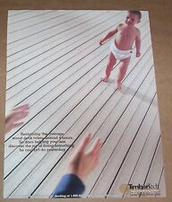 2001 ad page - CUTE baby in diaper -TimberTech Decking vintage Print Advertising