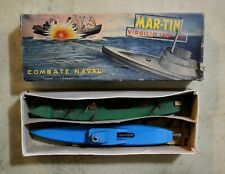 VINTAGE TOY BOAT WOOD NAVAL SHIP MARTIN VIRGILIO 1401 ARGENTINA SET IN BOX VHTF!