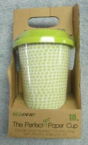 New ECO-on the-GO 10oz Insulated Ceramic Mug with Silicone Spill Proof Lid