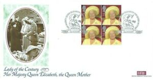 2000 Queen Mother, BHC Windsor Official FDC - Stamps from Prestige Book Pane
