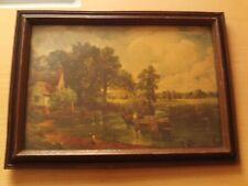 Vintage John Constable Framed Print 'The Hay Wain' Medici Society Limited.