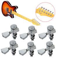 6R Guitar String Inline Tuning Pegs Locking Tuners Key Machine Heads Chrome