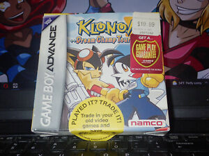 Klonoa 2 Dream Champ Tournament GBA Game Boy Advance 2005 Namco Video Game CIB