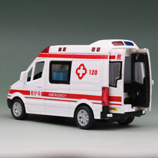 1:36 Alloy Emergency Ambulance car with Light and Sounds For Kids Gifts